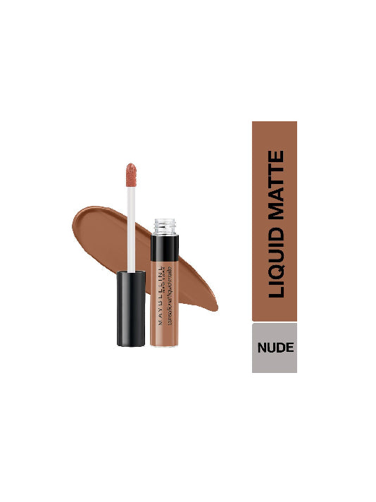 (Maybelline New York) Sensational Liquid Matte Lipstick - 07 Barely Nude (7ml)