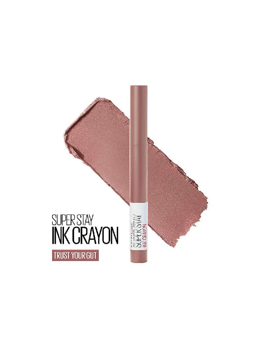 (Maybelline New York)Super Stay Crayon Lipstick - 10 Trust Your Gut (1.2g)