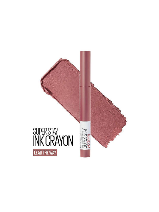(Maybelline New York) Super Stay Crayon Lipstick - 15 Lead The Way (1.2g)