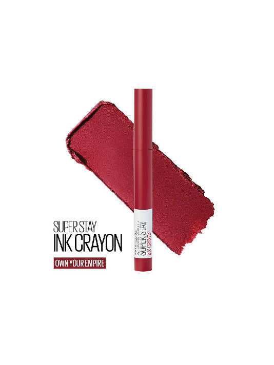 (Maybelline New York) Super Stay Crayon Lipstick - 50 Own Your Empire (1.2g)