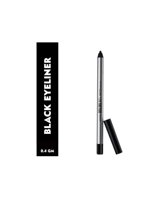 (Maybelline) New York Line Tattoo Crayon Eyeliner - Black (0.4gm)