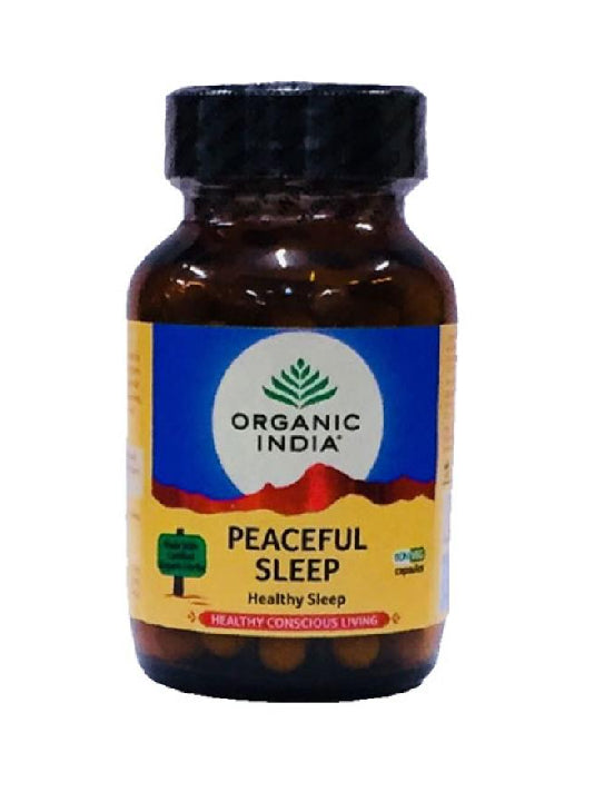 (Organic India) Peaceful Sleep (60 Capsules Bottle)