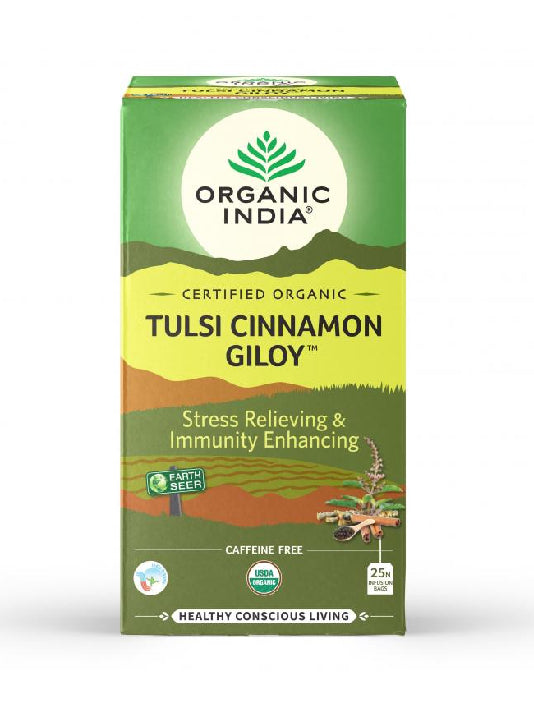 (Organic India) Tulsi Cinnamon Giloy (25 Tea Bags)
