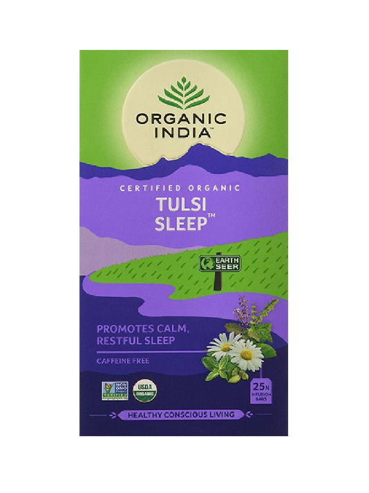 (Organic India) Tulsi Sleep (25 Tea Bags, 25N Infusion Bags)