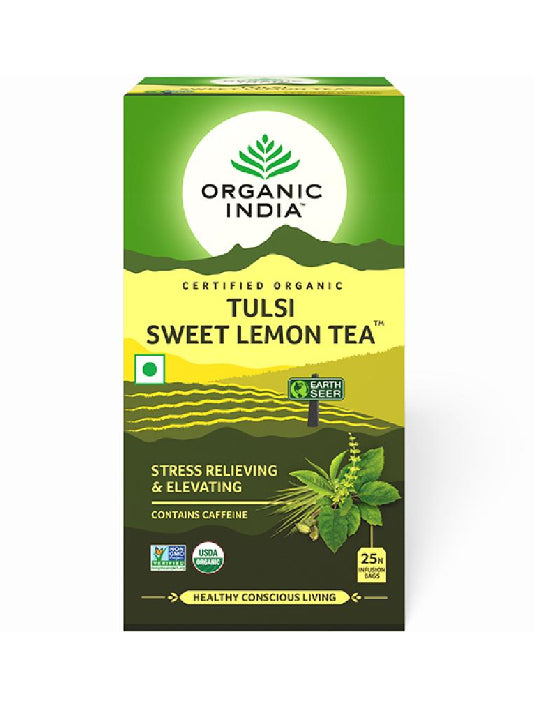(Organic India) Tulsi Sweet Lemon Tea  (25 Tea Bags)
