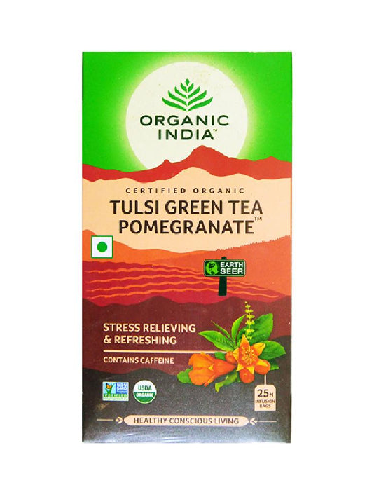 (Organic India) Tulsi Green Tea Pomegranate (25 Tea Bags)