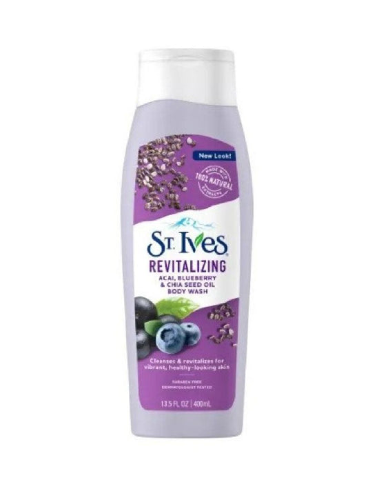(St. Ives) Acai Blueberry & Chia Seed Oil Body Wash (400ml)