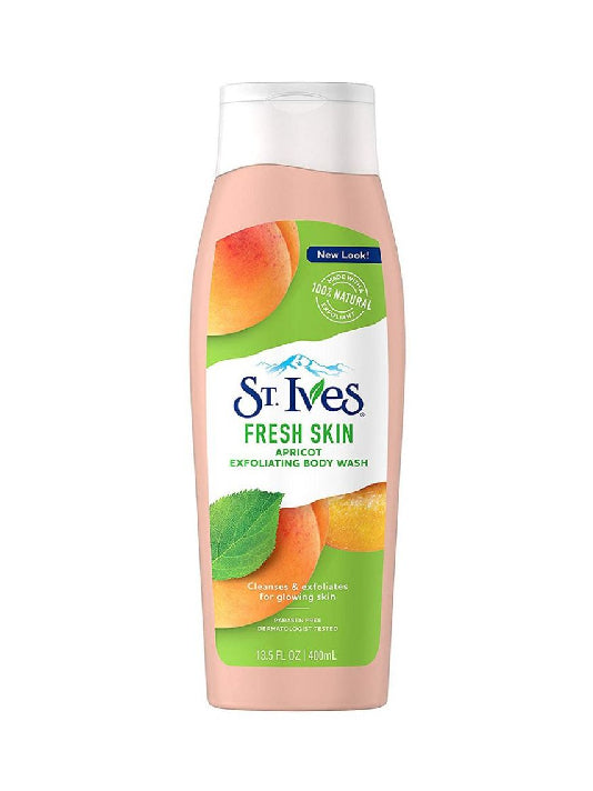(St. Ives) Fresh Skin Apricot Exfoliating Body Wash (400ml)