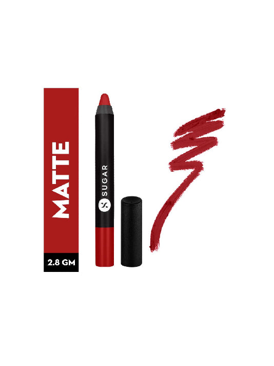 (Sugar) Matte As Hell Crayon Lipstick - 01 Scarlett O'Hara-Red(2.8gm)