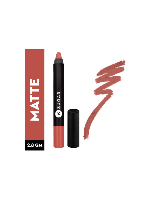 (Sugar)Matte As Hell Crayon Lipstick - 04 Holly Golightly-Nude(2.8gm)