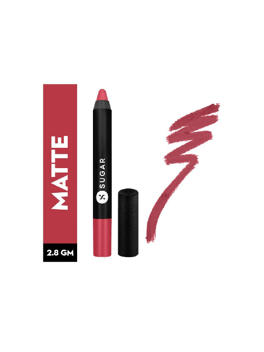 (Sugar)Matte As Hell Crayon Lipstick - 05 Rose Dawson-RosePink(2.8gm)