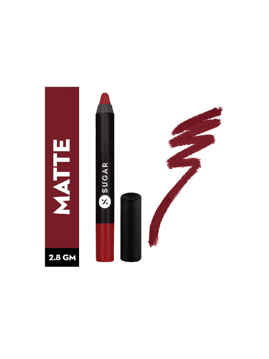 (Sugar)Matte As Hell Crayon Lipstick - 10 Cherry Darling-Cherry Red(2.8gm)