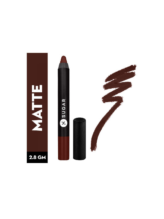 (Sugar)Matte As Hell Crayon Lipstick - 13 Murphy Brown-Chocolate Burgundy(2.8gm)