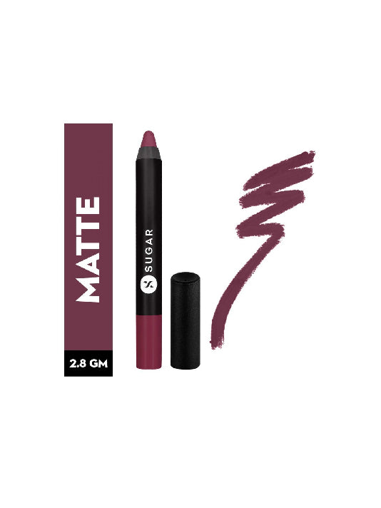 (Sugar)Matte As Hell Crayon Lipstick - 14 Violet Crawley Smokey Violet(2.8gm)