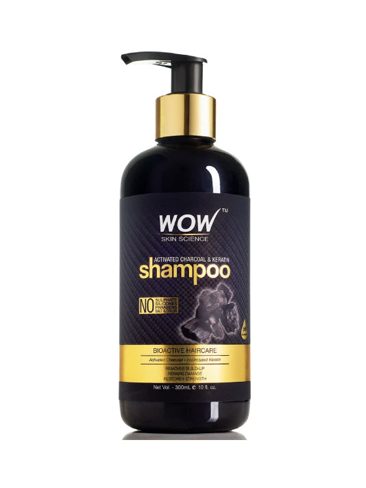 (Wow) Skin Science Activated Charcoal & Keratin Shampoo (300ml)