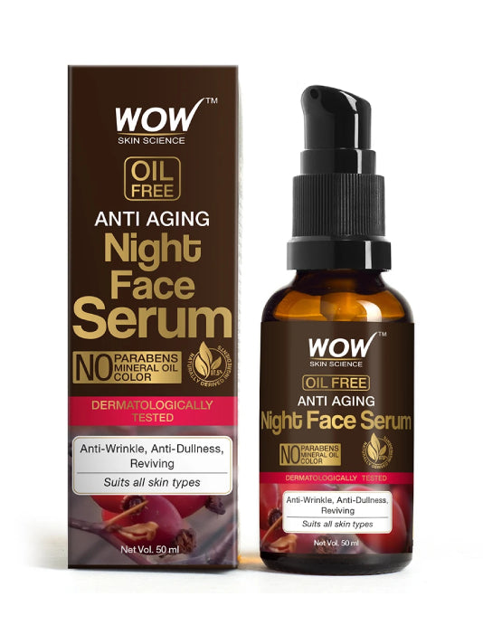 (Wow) Skin Science  Anti Aging Night Face Serum-(50ml)
