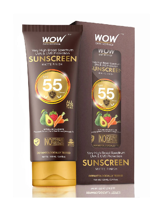 (Wow) Skin Science Matte Finish Sunscreen Lotion (100ml)