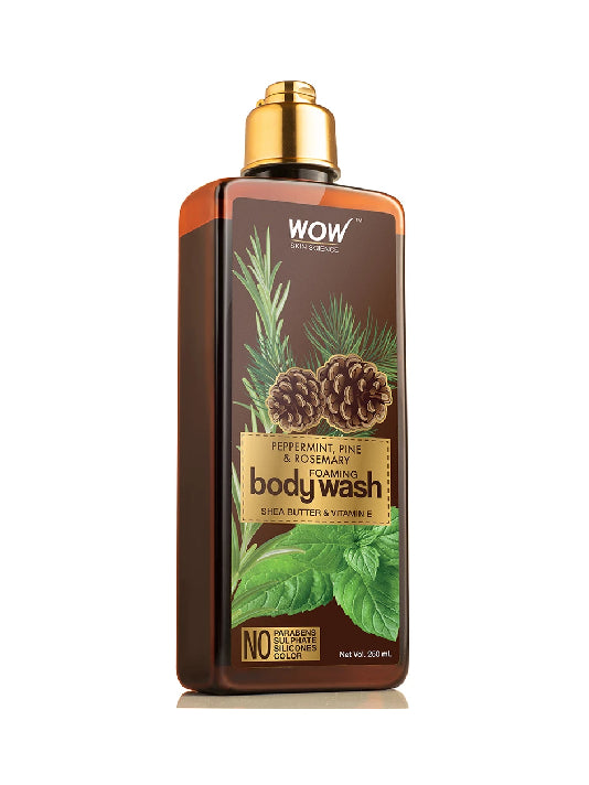(Wow) Skin Science Peppermint, Pine & Rosemary Foaming Body Wash(250ml)