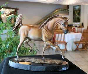 """ Arabian Dream "" bronze Arabian mare statue"