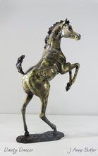 Load image into Gallery viewer, Bronze foal sculpture in contemporary  bronze patina
