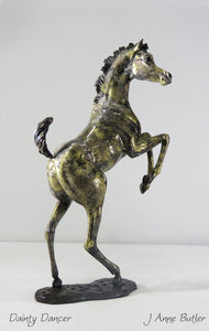Bronze foal sculpture in contemporary  bronze patina