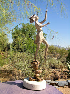 """ Ray of Sunshine ""   bronze figurative sculpture        28"" high"