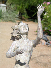 "Load image into Gallery viewer, "" Ray of Sunshine ""   bronze figurative sculpture        28"" high"