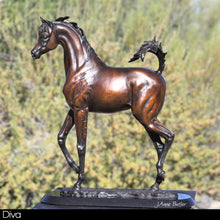 "Load image into Gallery viewer, "" Diva"" - Arabian filly bronze sculpture."