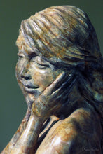 "Load image into Gallery viewer, "" Grace "" Bronze female form figurative sculpture.     17""  high"
