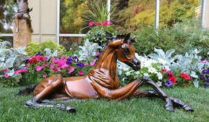 """Hope""  Life size Bronze Foal Sculpture."