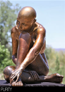 """ Purity "" Figurative Bronze Sculpture.     20"" high."