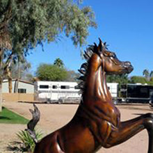 "Load image into Gallery viewer, "" Layla B "" Life Size Arabian Horse Bronze Sculpture.      72"" high."