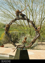 "Load image into Gallery viewer, "" Seasons "" figurative bronze sculpture"