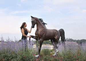""" Stepping High"" Life Size Saddlebred Horse Bronze Sculpture.    84"" high"