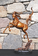 "Load image into Gallery viewer, ""Sunshine Dancer"" Equine Bronze Sculpture.           16"" high."
