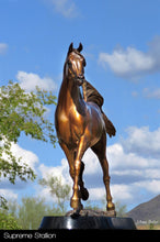 "Load image into Gallery viewer, "" W H Justice "" Arabian Stallion Bronze Sculpture."