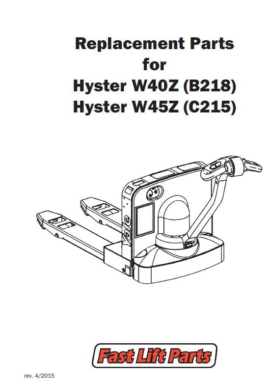 Hyster W40z    W45z Catalog  U2013 Fast Lift Parts