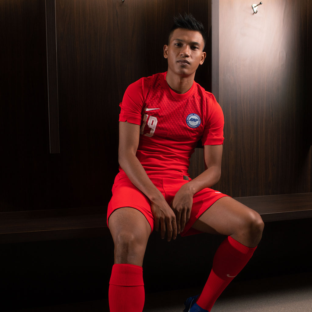 Singapore National Team 2020 Home Jersey Model Khairul Nizam