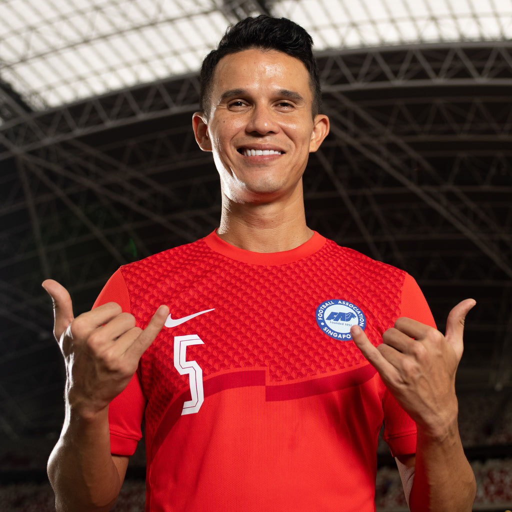 Singapore National Team 2020 Home Jersey Model Baihakki Khaizan