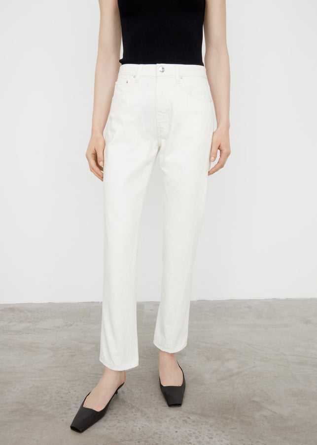 Twisted seam denim off-white