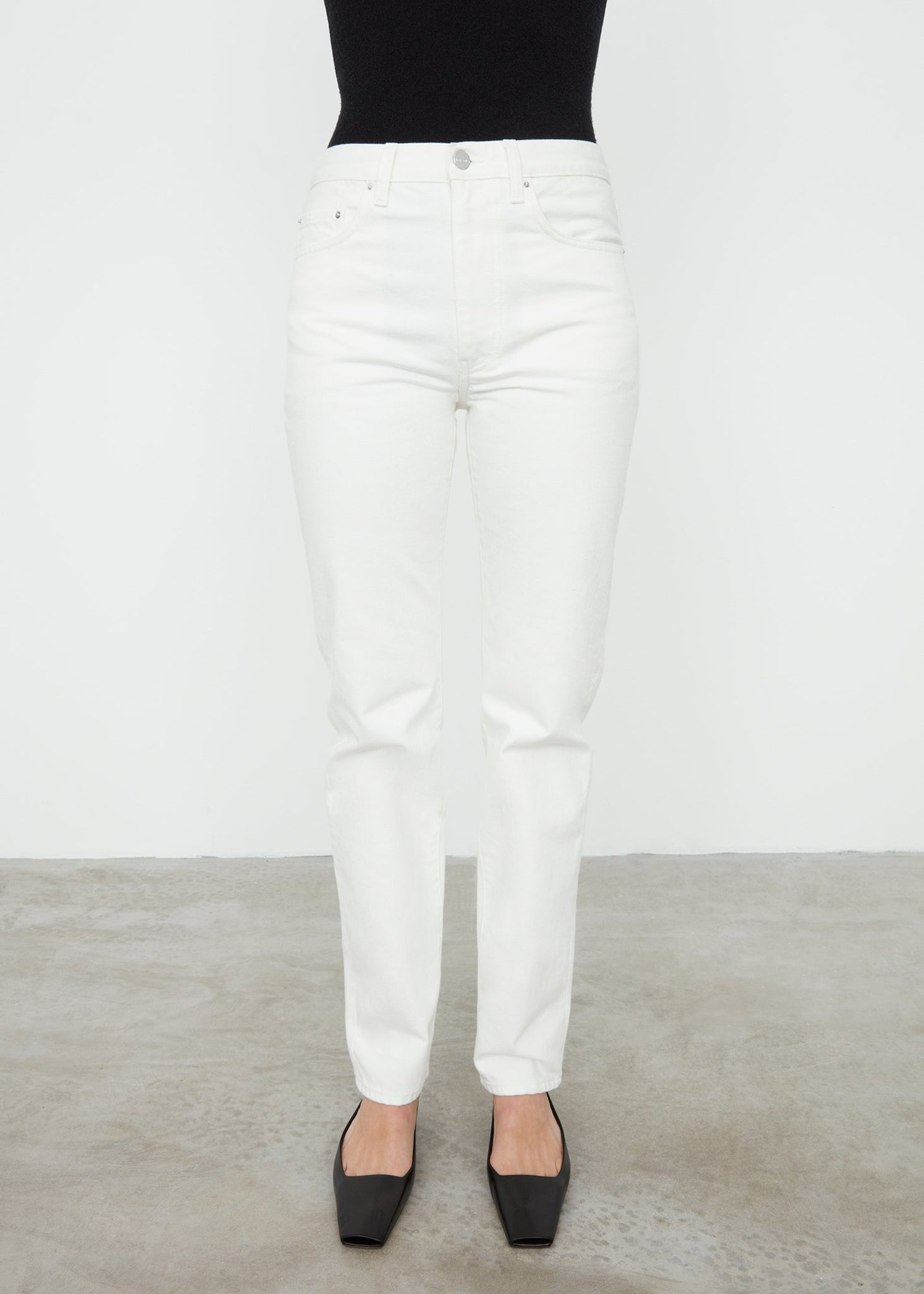 Regular fit denim off-white