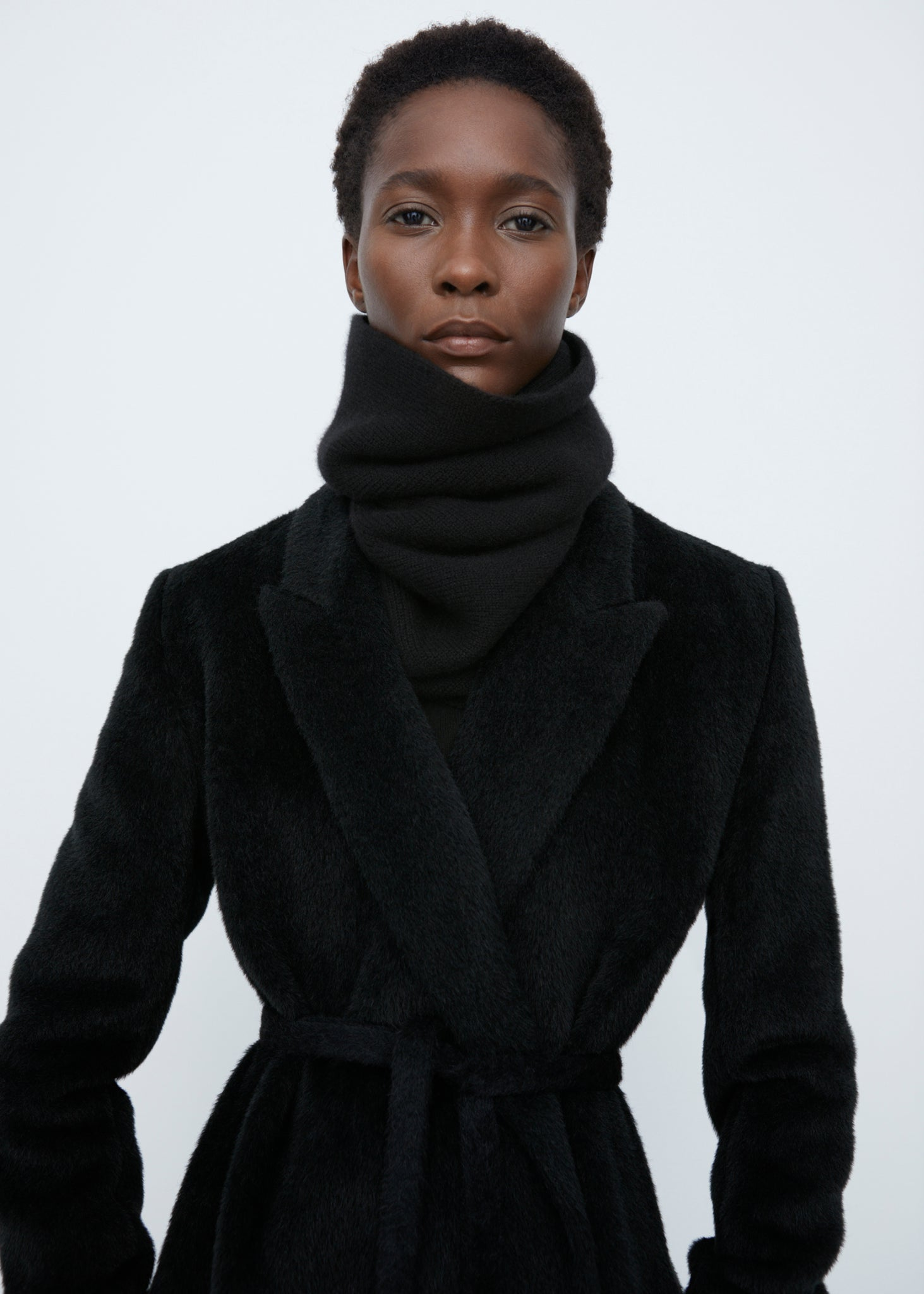 Cashmere collar black