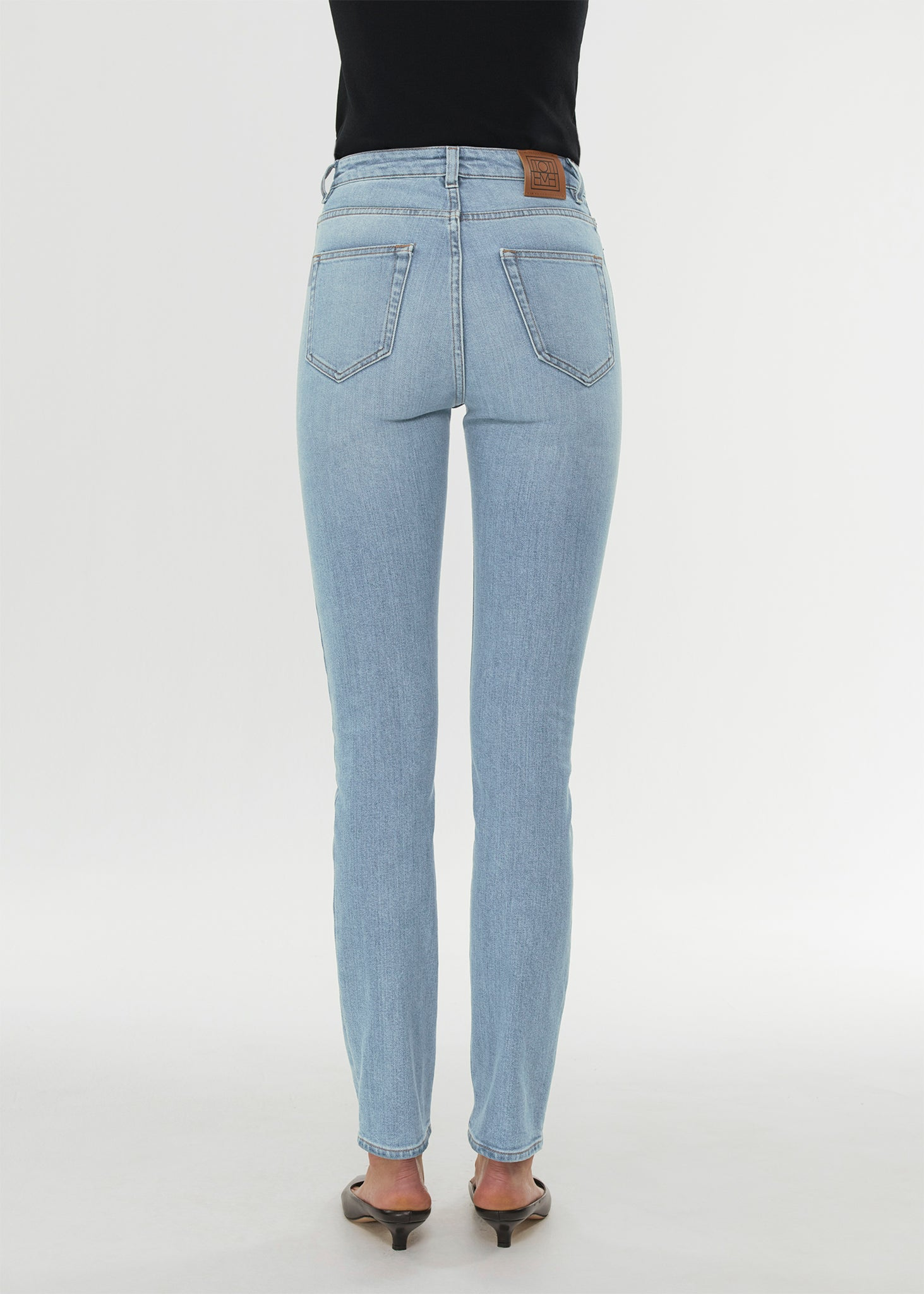 Skinny fit denim light blue wash