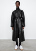 Leather trench black