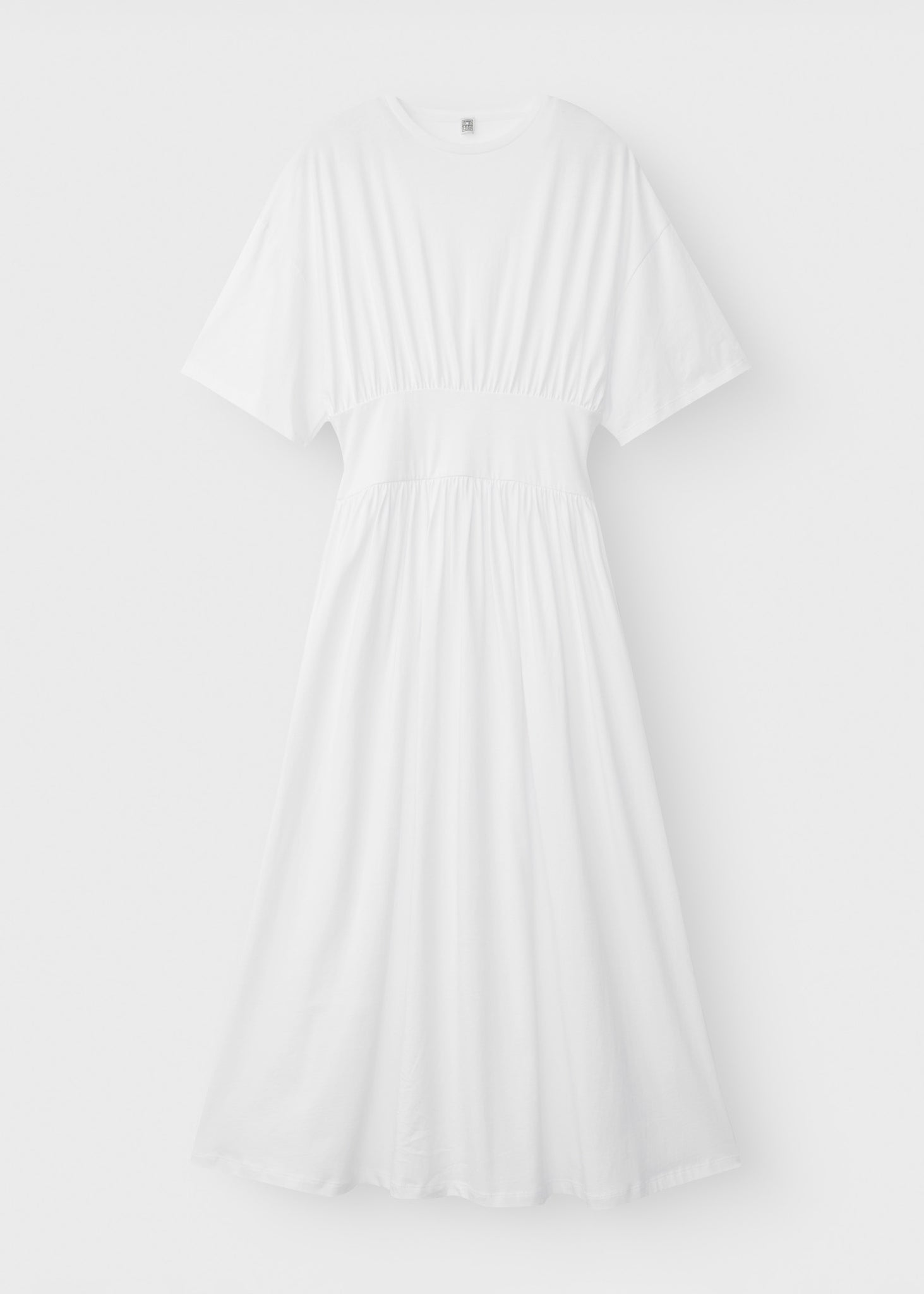 Cotton tee dress white