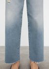Flare fit denim distressed light blue