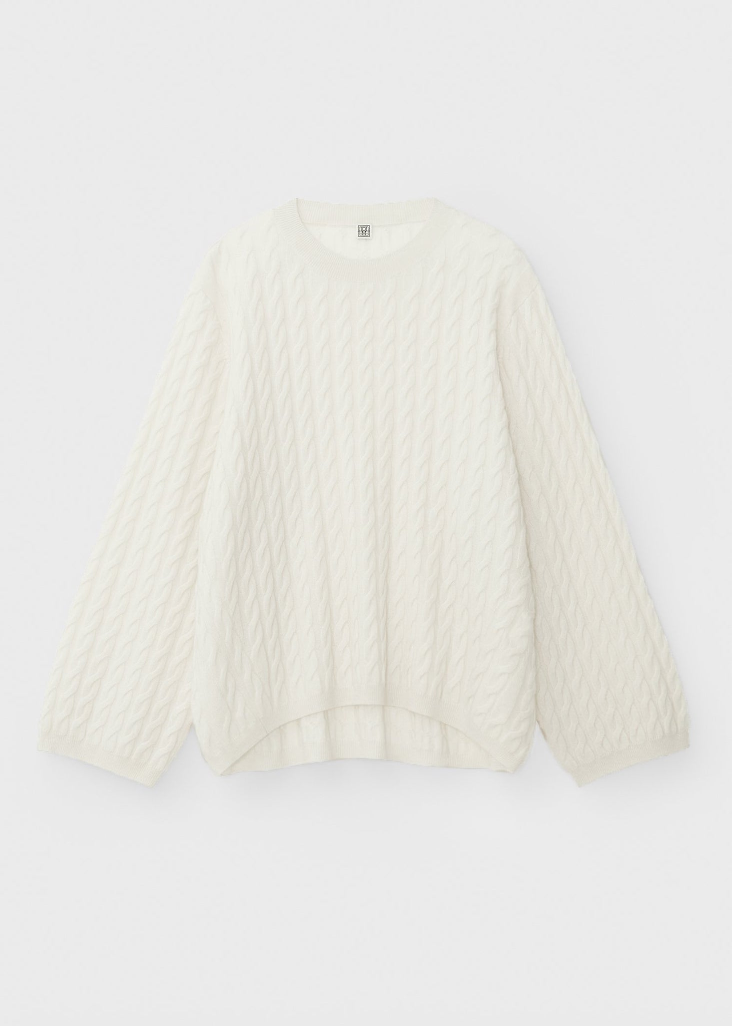 Cashmere cable knit off-white
