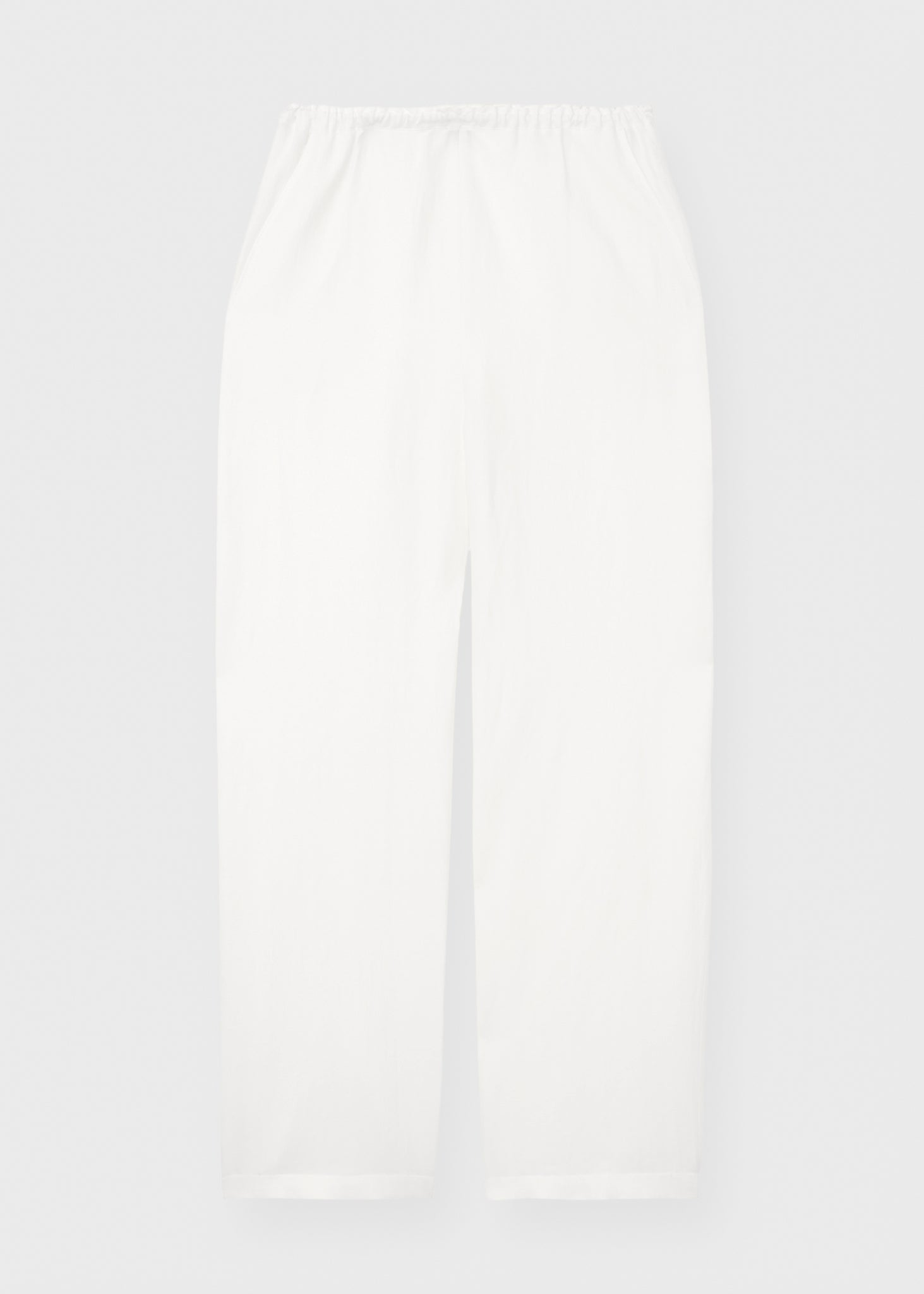 Stretch linen slacks city white