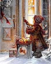 Load image into Gallery viewer, Kid Waiting For Santa - Paint by numbers