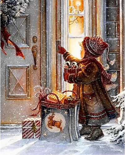 Kid Waiting For Santa - Paint by numbers